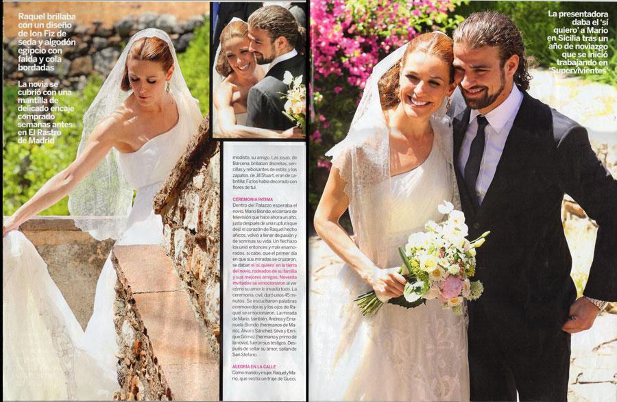la boda siciliana de raquel sánchez silva en lecturas | wedding planners